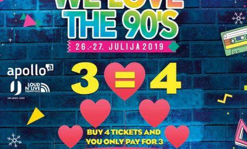 """Retro mūzikas festivāla """"We Love The 90's"""" īpašais Valentīndienas pārsteigums"""