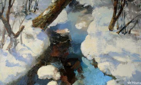 """Gundegas Rancānes gleznu izstāde """"Klātesot"""""""