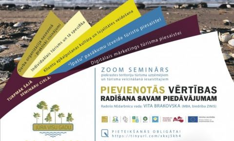Sākas 6 semināru cikls piejūras teritoriju tūrisma uzņēmējiem