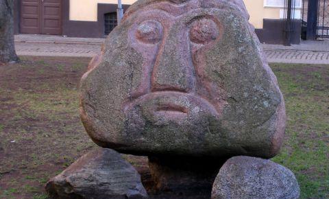 """Skulptūra """"Ako galva"""""""