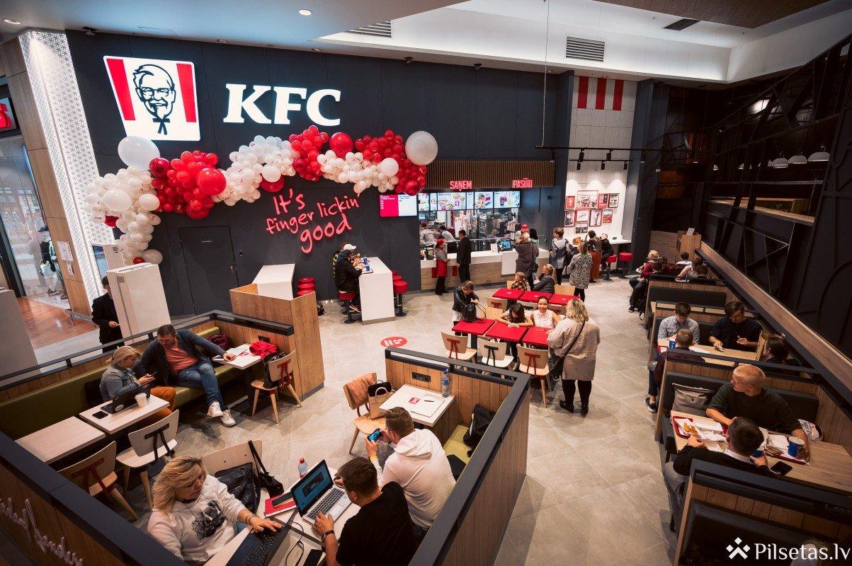 Rīgā durvis vēris jauns populārā KFC tīkla restorāns