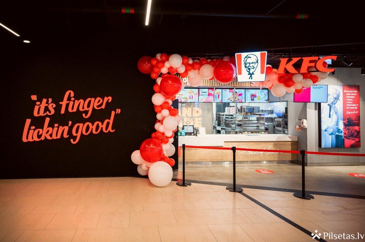 Jauns KFC restorāns atklāts arī t/c Origo
