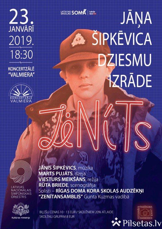 """Jāņa Šipkēvica dziesmu izrāde """"Zenīts"""""""