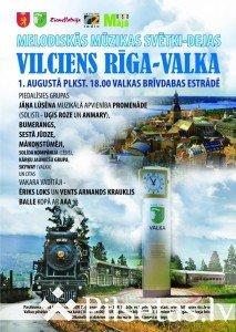 """Melodiskās mūzikas svētki """"Vilciens Rīga - Valka"""" Valkas brīvdabas estrādē"""
