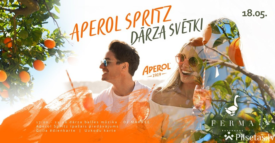 Aperol Spritz dārza svētki