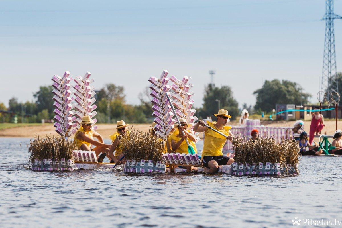 Jelgavā šo sestdien notiks vienīgā piena paku laivu regate Eiropā