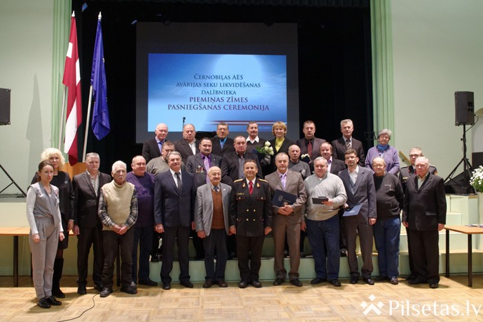 Preiļos pasniegtas piemiņas zīmes Černobiļas AES avārijas seku likvidēšanas dalībniekiem