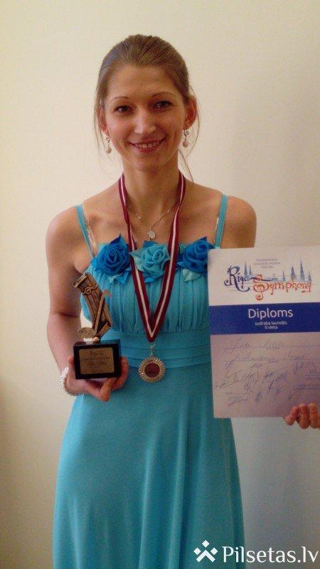 DU studente ieguvusi 2. vietu starptautiskajā vokalās mūzikas jauno izpildītāju festivāla konkursā.