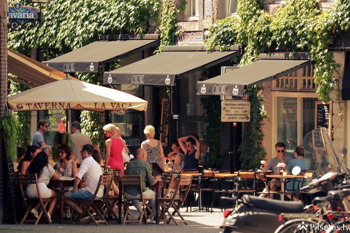 No 7. maija pastiprinātos drošības apstākļos drīkst darboties restorānu un kafejnīcu terases