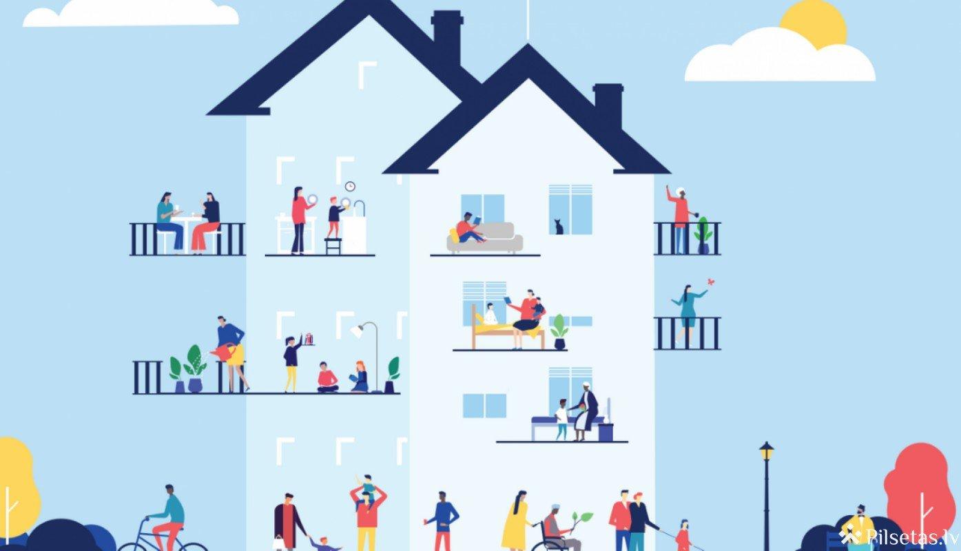 Valdība apstiprina jaunu atbalsta programmu daudzdzīvokļu ēku remontiem un apkārt esošās teritorijas labiekārtošanai