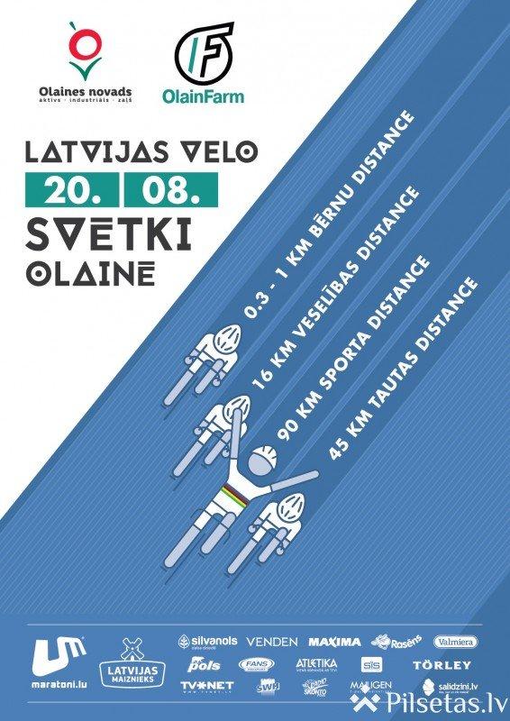 Strauji tuvojas vērienīgie Latvijas Velo svētki Olainē