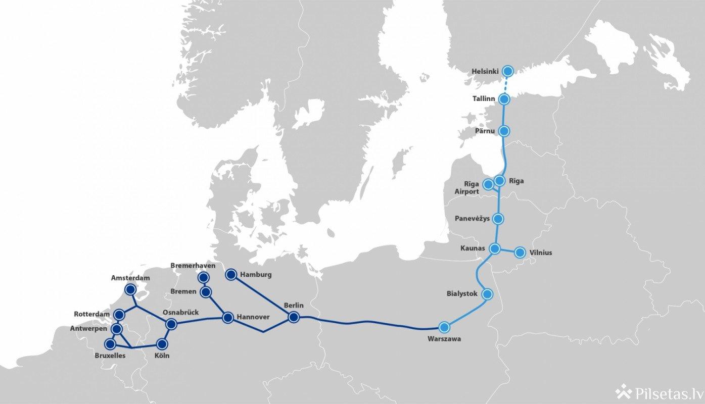 Apstiprina finansējumu Eiropas Zaļās vienošanās mērķu sasniegšanai: finansējums piešķirts arī Rail Baltica projektam