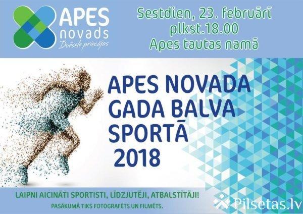 """Noskaidroti """"Apes novada sporta laureāts 2018"""" nominanti"""