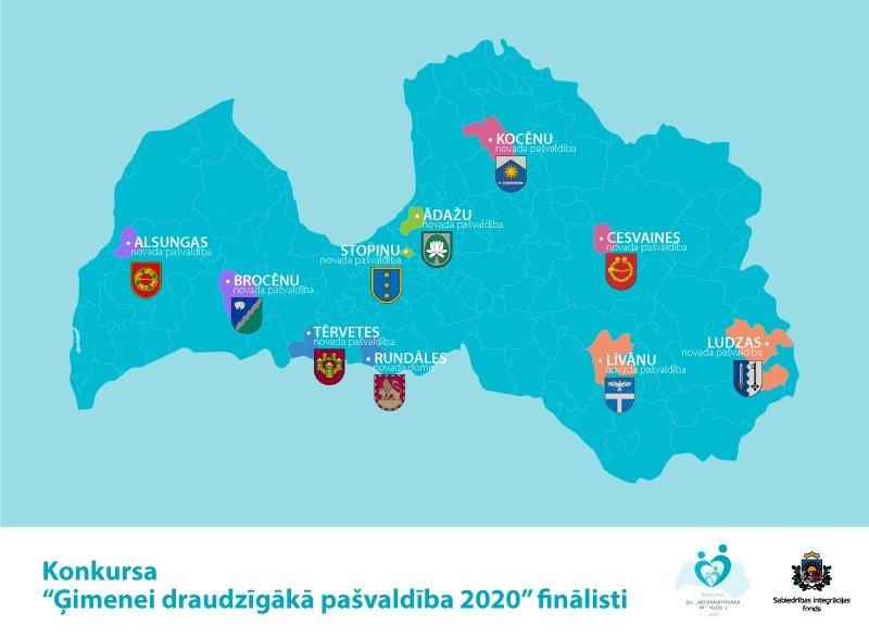 """No Vidzemes plānošanas reģiona konkursa """"Ģimenei draudzīgākā pašvaldība 2020"""" finālā iekļūst Cesvaine un Kocēni"""