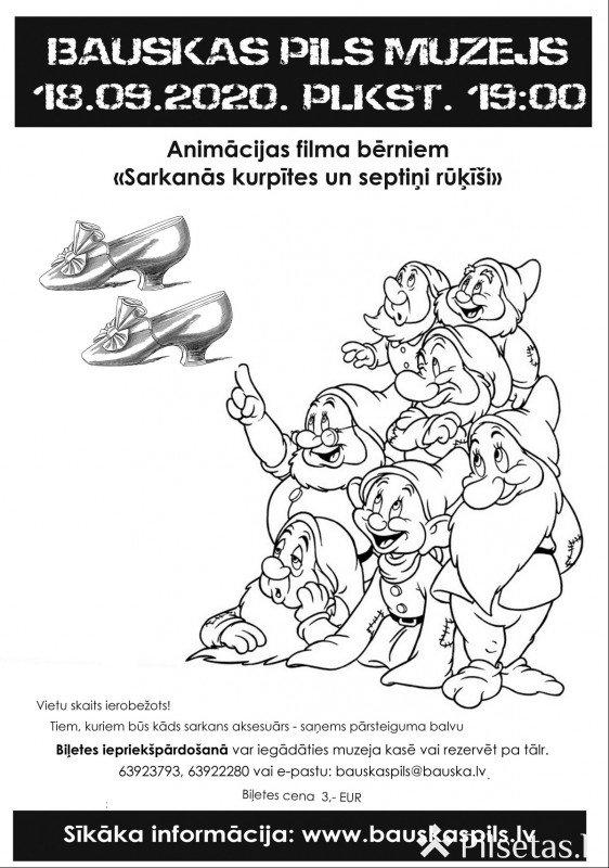 Bauskas pilī rādīs bērnu animācijas filmu