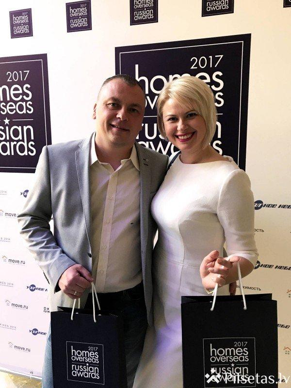"""Nekustamo īpašumu aģentūra """"VIP Real"""" ieguva divas balvas prestižajā starptautiskajā prēmijā Maskavā"""