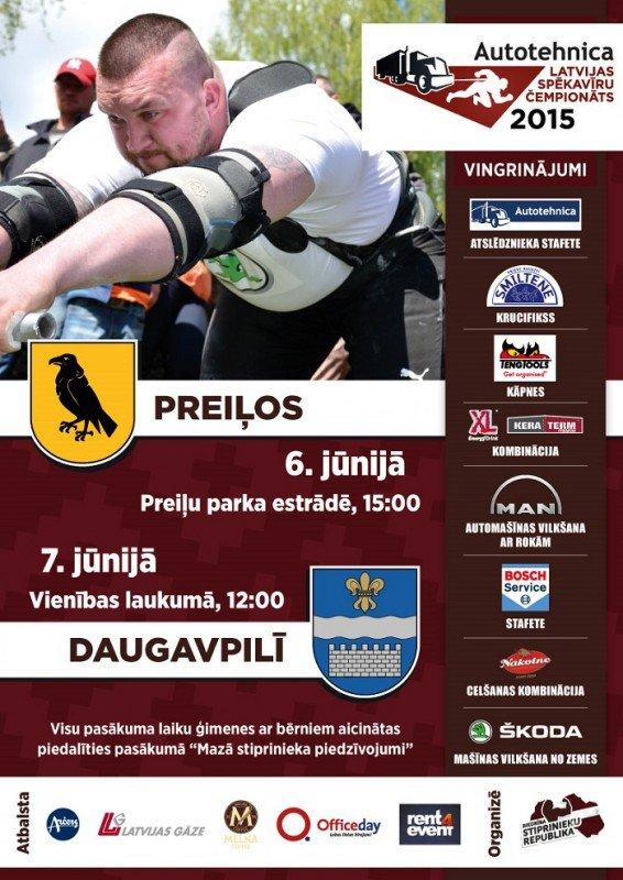 """Latvijas spēkavīru sacensības un pasākums bērniem """"Mazā stiprinieka piedzīvojums"""""""