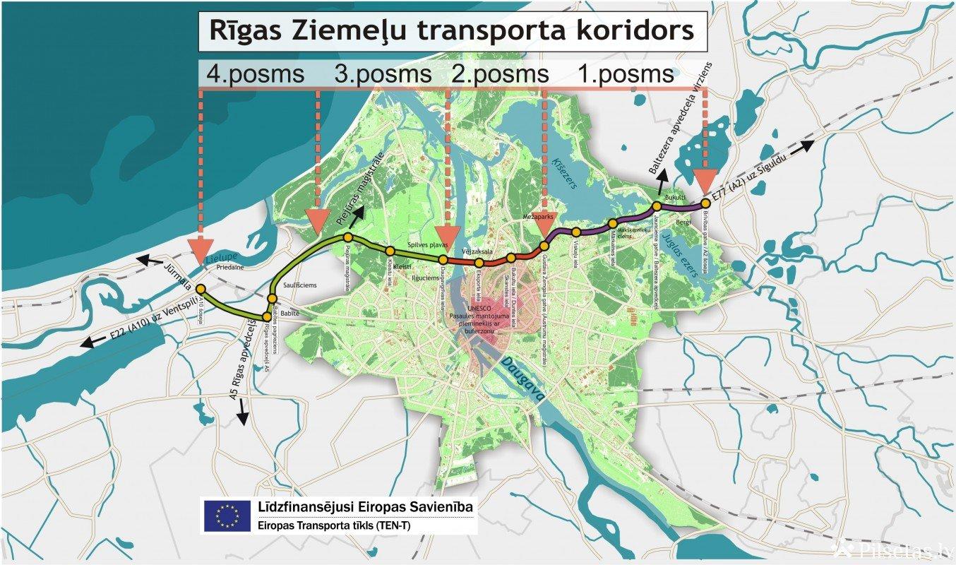 Izstrādāts Rīgas Ziemeļu transporta koridora 1. posma tehniskais projekts/būvprojekts