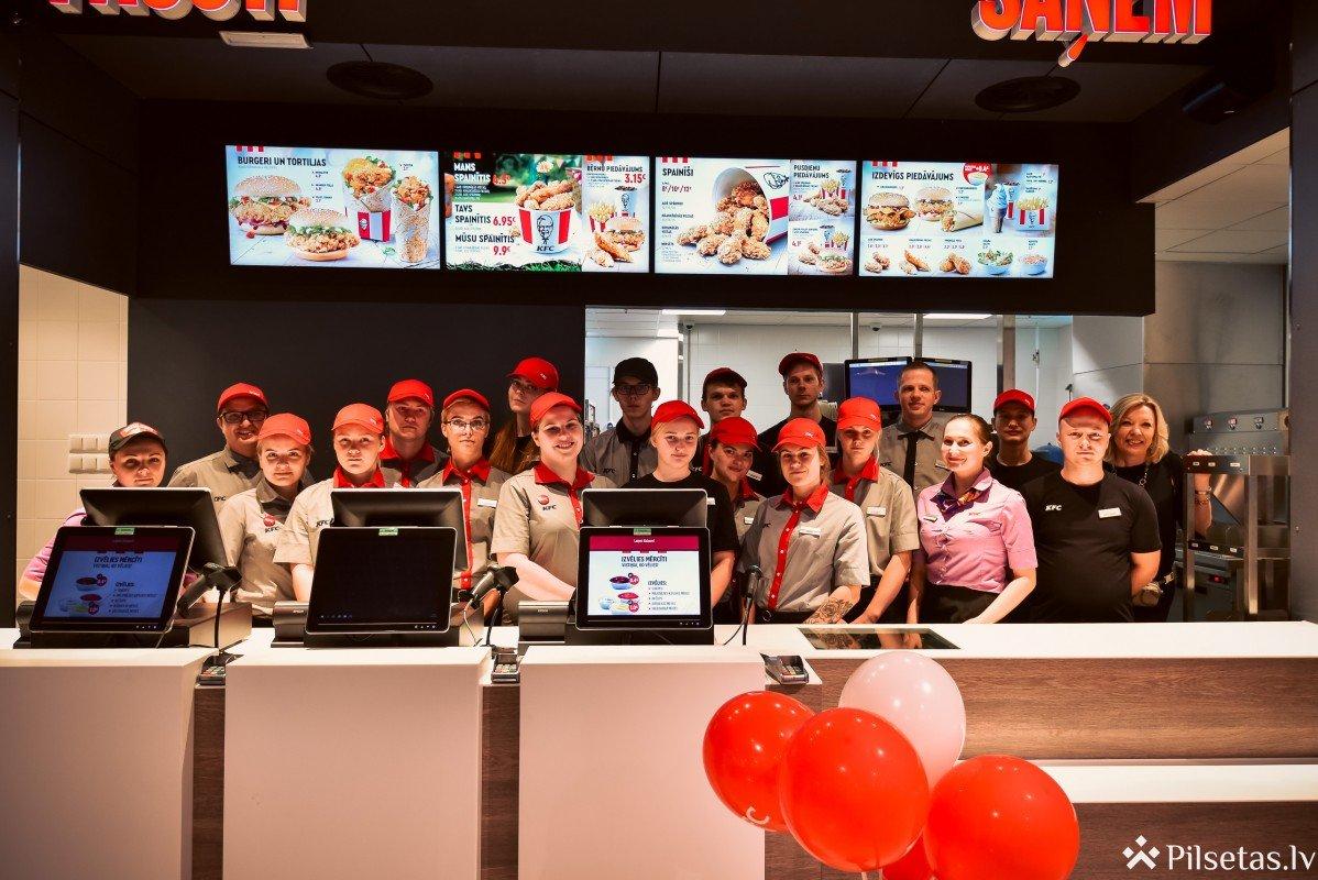KFC restorānos Latvijā paredzēts nodrošināt  vairāk nekā 250 jaunas darba vietas