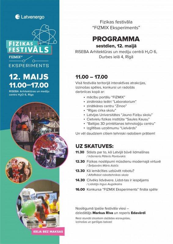 Bērnus un jauniešus aicina uz pirmo fizikas festivālu Latvijā!
